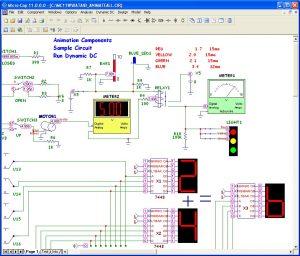 نرم افزار شبیه ساز مدارات آنالوگ/دیجیتال